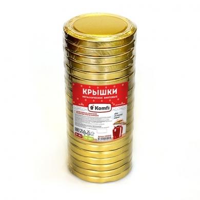 """Крышки винтовые d=82мм, в упаковке по 20 шт, """"золотистые"""",  Komfi"""
