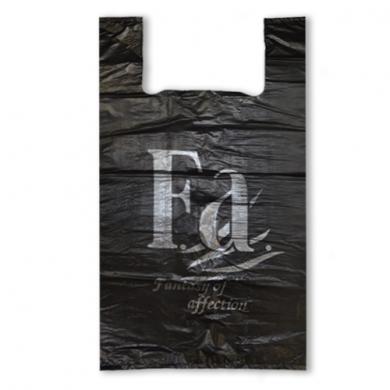Пакет майка ПНД (Черная) 32см+18см*57см
