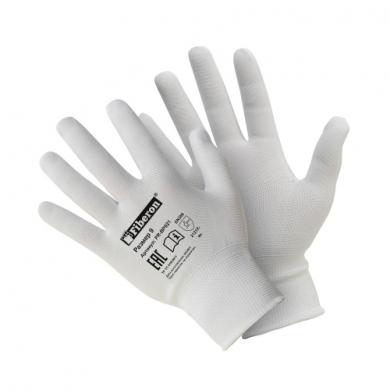 Перчатки «для сборочных работ» полиэстеровые, белые, Fiberon