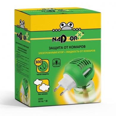 Комплект фумигатор универсальный + жидкость на 30 ночей без запаха Nadzor