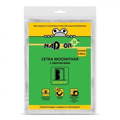 Сетка москитная 0,95*2м с магнитами с узором в пакете Nadzor