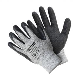 """Перчатки """"Сверхвысокая защита от порезов"""" со стекловолокном, текстурированное латексное покрытие, Fiberon, 10(XL)"""
