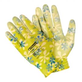 Перчатки «Для садовых работ», полиэстеровые, нитриловое покрытие, микс цветов, Fiberon, 8(M)