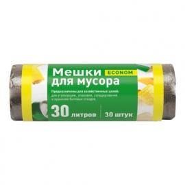 Пакет мусорный ПНД в рулоне 30л/30шт