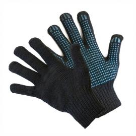 Перчатки вязаные с пвх 75г. черные