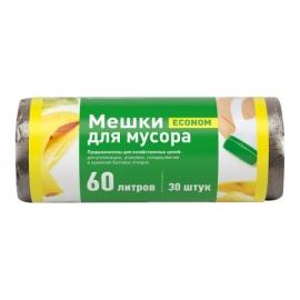 Пакет мусорный ПНД в рулоне 60л/30шт