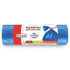 Пакет мусорный ПВД в рулоне (синие)120л/10шт