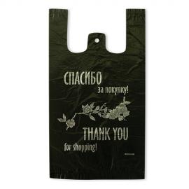 Пакет майка ПНД  «Спасибо за покупку» 24+11*44 см