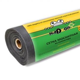 Сетка москитная в рулоне 1,0*30 м с картонной втулкой черная Nadzor