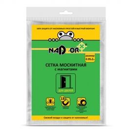 Сетка москитная 0,95*2м с магнитами белая в пакете Nadzor