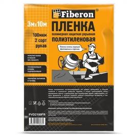 Пленка полиэтиленовая 3м x 10м 2 сорт техническая Fiberon нарезка